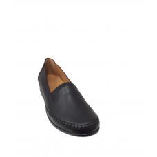 Γυναίκεια παπούτσια ανατομικά δερμάτινα ΜΑΥΡΟ 814