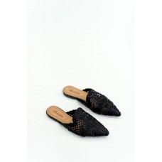 Γυναίκειές παντόφλες  Mules Με Μύτη ΜΑΥΡΟ Η8965